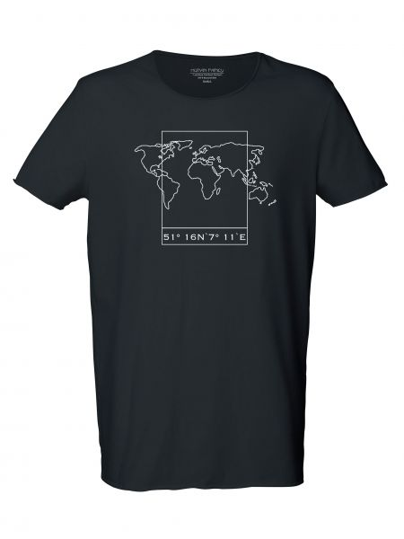 "Men Long Tee ""Surfs - Worldmap"""
