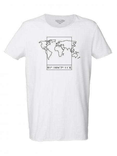 "Men Long Tee ""Surfs - Worldmap"""