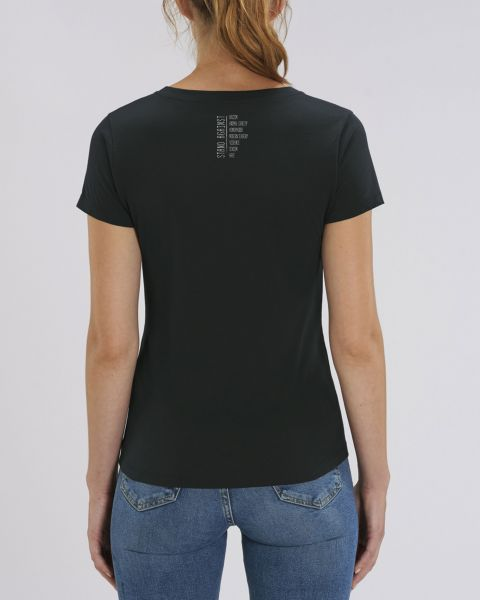 "Damen V-Neck T-Shirt - ""Evolution - Stand Against"""
