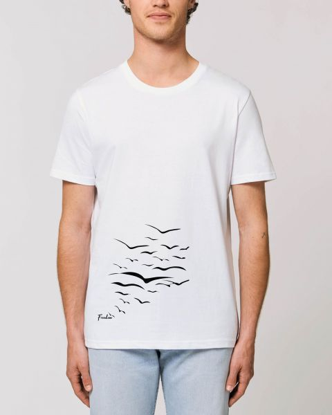 "Unisex T-Shirt ""Create - Free Birds"" in 9 Farben"