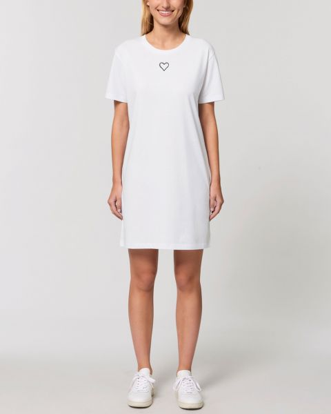 "Kurzärmeliges Bio Damen T-Shirt-Kleid ""Streetlove"""