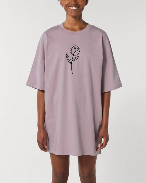 "Oversize Damen T-Shirt-Kleid ""Flower"""